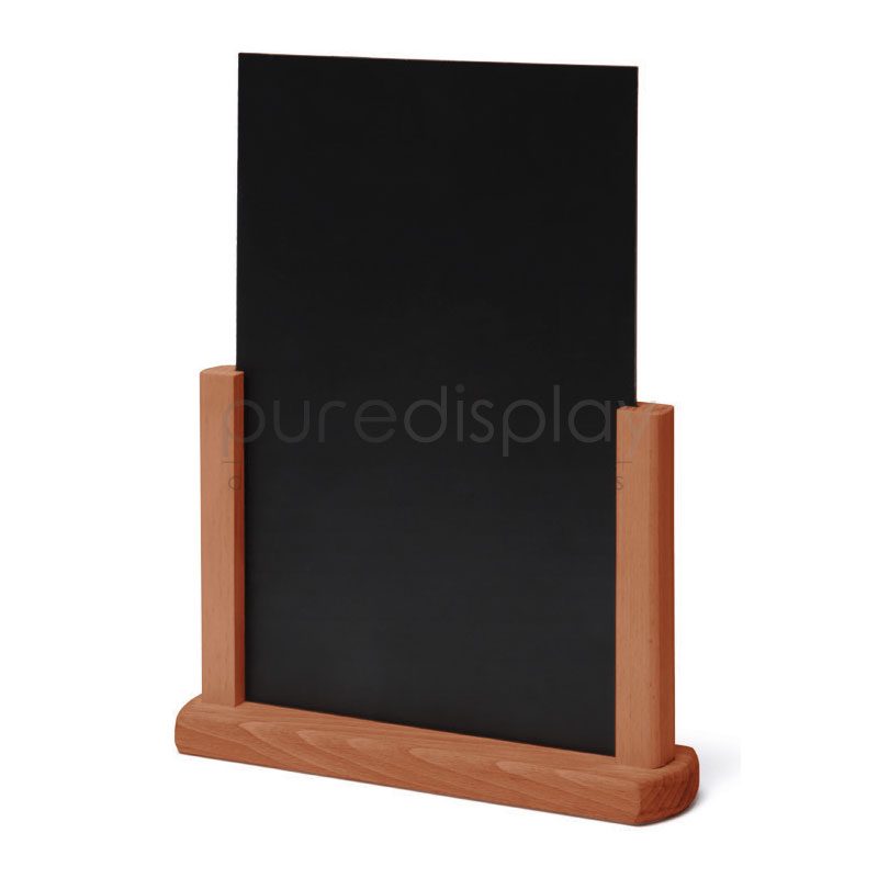 A4 Table Top Chalkboard Poster Stands And Holders