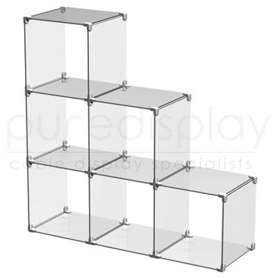 Acrylic Cube Display Set 3x3 Stepped